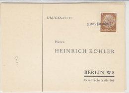 Köhler-Karte Mit Stempel .. Unter-Langendorf / Günter?? - Occupation 1938-45