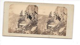 Photo Stéréo Chamonix 1858-1859 Cabane Du Chapeau - Fotos Estereoscópicas