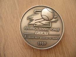 Médaille Couleur Argent Tournoi Tennis 1989  Tonus Fiat Grand Prix Médical De France - Tennis