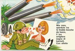 CARTOLINA UMORISTICA MILITARE   (543) - Humor