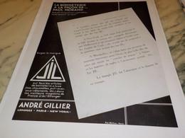 ANCIENNE PUBLICITE LA BONNETERIE FACON PAUL MORAND DE JIL 1930 - Habits & Linge D'époque