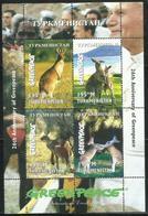 TURKMENISTAN 1999 FAUNA Animals ANIMALI KANGAROOS CANGURI GREEN PEACE ANNIVERSARY BLOCK SHEET BLOCCO FOGLIETTO BLOC MNH - Turkmenistan