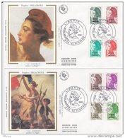 L4P184 SAINT PIERRE MIQUELON 1988 Liberté FDC  11 Valeurs Saint-Pierre 25 07 1988/ 4 Envel.  Illus. - 1982-90 Liberté De Gandon