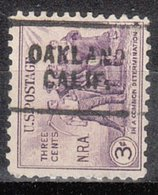USA Precancel Vorausentwertung Preo, Locals California, Oakland 703 - Preobliterati