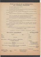 """Militaria Guerre D'Algérie / Bulletin D'adhésion """"Union Pour Le Salut Et Le Renouveau De L'Algérie Française"""" Voir Verso - Documents Historiques"""
