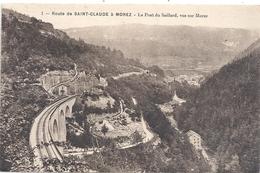 ROUTE DE SAINT-CLAUDE A MOREZ . LE PONT DU SAILLARD . VUE SUR MOREZ . CARTE ECRITE AU VERSO - Saint Claude