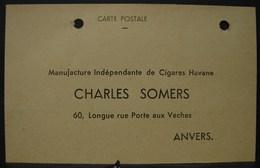 T.Doc. 1. Carte Postale De Commande De Cigares Chez Charles Somers à Anvers. - Documents