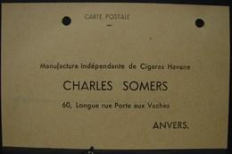 T.Doc. 2. Carte Postale De Commande De Cigares Chez Charles Somers à Anvers. - Documents
