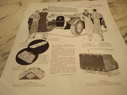 ANCIENNE PUBLICITE SALON DE L  AUTOMOBILE HOTCHKISS NOTES D ELEGANCE 1930 - Habits & Linge D'époque