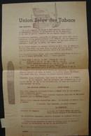 T.Doc. 5. Bulletin De Commande à L' Union Belge Des Tabacs à St-Nicolas-Waes - Documents