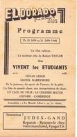 Pub Reclame Ciné Cinema Bioscoop Film Programme - Eldorado - Gand Gent - Vivent Les étudiants - 1945 - Cinema Advertisement
