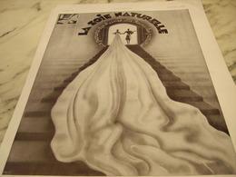 ANCIENNE PUBLICITE PARURE DES REINES SOIE NATURELLE  1930 - Habits & Linge D'époque