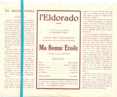 Pub Reclame Ciné Cinema Bioscoop Film Programme - Eldorado - Bruxelles - Ma Bonne étoile - Fernandel - Publicité Cinématographique