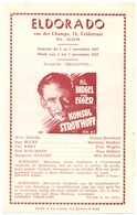 Pub Reclame Ciné Cinema Bioscoop Film Programme - Eldorado - Gent - Konsul Strotthoff - 1957 - Publicité Cinématographique