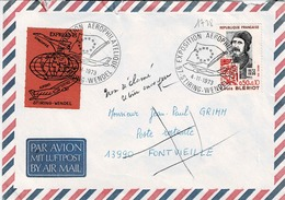 TP N° 1728 Seul Sur Enveloppe Avec Cad Expo Aerophilatélique De Stiring-Wendel - Postmark Collection (Covers)