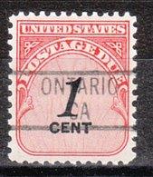 USA Precancel Vorausentwertung Preo, Locals California, Ontario 839 - Vereinigte Staaten