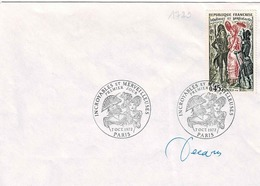 TP N° 1729 Seul Sur Enveloppe Non Circulée Avec Cachet 1er Jour De Et Signature De Décaris - Postmark Collection (Covers)