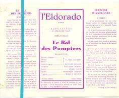 Pub Reclame Ciné Cinema Bioscoop Film Programme - Eldorado - Bruxelles - Le Bal Des Pompiers - Publicité Cinématographique