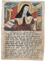 Isabella Hertsens Prent Ingekleurd Op Handgeschept Papier - Religion & Esotérisme