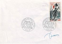 TP N° 1730 Seul Sur Enveloppe Non Circulée Avec Cachet 1er Jour De Et Signature De Décaris - Postmark Collection (Covers)
