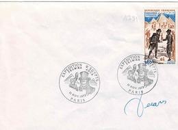 TP N° 1731 Seul Sur Enveloppe Non Circulée Avec Cachet 1er Jour De Et Signature De Décaris - Postmark Collection (Covers)