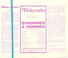 Pub Reclame Ciné Cinema Bioscoop Film Programme - Eldorado - Bruxelles - D'Hommes à Hommes - Publicité Cinématographique