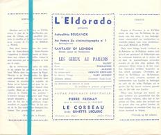Pub Reclame Ciné Cinema Bioscoop Film Programme - Eldorado - Bruxelles - Les Gueux Au Paradis - Cinema Advertisement