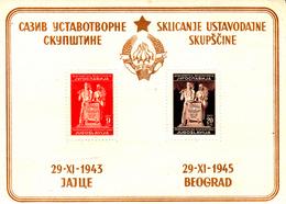 Yougoslavie Bf 2 Nouvelle Constitution ( Caractères Cyriliques ) - Blocs-feuillets