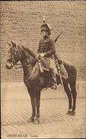 Cp Armée Belge, Guide, Berittener Soldat Der Belgischen Armee - Militaria