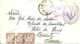 De L'Hotel VICTORIA à SAN SEBASTIAN Correspondance Militaire Et Censure -TAXEES- 1937 - - 1931-Aujourd'hui: II. République - ....Juan Carlos I