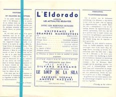 Pub Reclame Ciné Cinema Bioscoop Film Programme - Eldorado - Bruxelles - Fernandel - Uniformes Et Grandes Manoeuvres - Publicité Cinématographique