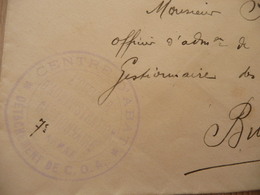 Lettre France Guerre 14/18 Trésors Postes 168 + Cachet Bleu Centre De Rabat Détachement De C.O.A. - Marcophilie (Lettres)