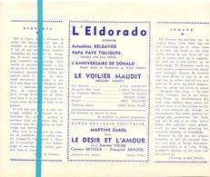 Pub Reclame Ciné Cinema Bioscoop Film Programme - Eldorado - Bruxelles - Le Voilier Maudit - Publicité Cinématographique