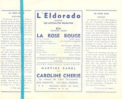 Pub Reclame Ciné Cinema Bioscoop Film Programme - Eldorado - Bruxelles - La Rose Rouge - Cinema Advertisement