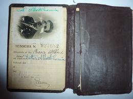 Tessera Di Abbonamento Biglietti  FERROVIE DELLO STATO 1930 - Week-en Maandabonnementen