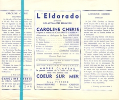 Pub Reclame Ciné Cinema Bioscoop Film Programme - Eldorado - Bruxelles - Caroline Chérie - Publicité Cinématographique