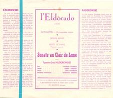 Pub Reclame Ciné Cinema Bioscoop Film Programme - Eldorado - Bruxelles - Sonate Au Clair De Lune - Publicité Cinématographique