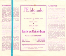 Pub Reclame Ciné Cinema Bioscoop Film Programme - Eldorado - Bruxelles - Sonate Au Clair De Lune - Cinema Advertisement