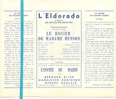 Pub Reclame Ciné Cinema Bioscoop Film Programme - Eldorado - Bruxelles - Le Rosier De Madame Husson - Bourvil - Publicité Cinématographique