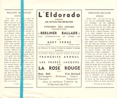 Pub Reclame Ciné Cinema Bioscoop Film Programme - Eldorado - Bruxelles - Berliner Ballade - Cinema Advertisement
