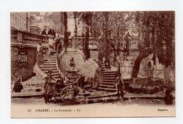 - CPA GRASSE (06) - La Fontaine 1925 (avec Rémouleur) - Editions Lévy N° 32 - - Grasse