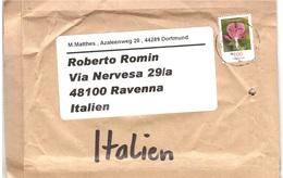 LETTERA X ITALY FIORI - Storia Postale