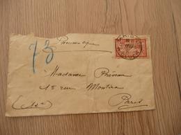 Lettre France 1917 Pneumatique Sur Merson 40c Rouge Cachet Paris R.Gluck En L'état - 1877-1920: Période Semi Moderne