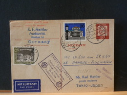 82/262  CP    ALLEMAGNE TO TOKIO  1° VOL  1964 - Briefe U. Dokumente