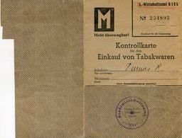 Carte De Rationnement Du Tabac - Kiel - Kontrollkarte Einkauf Von Tabakwaren - 01 à 03 1942 - Maps