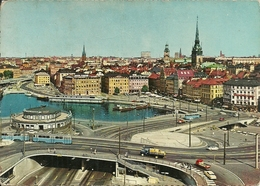 Stockholm, Stoccolma (Svezia) Gamla Stan, Old Town, Cité Ancienne, Raccordi Stradali Città Vecchia - Svezia