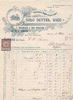 Autriche Facture Illustrée Lion 9/10/1914 SALO NETTEL Pelzwaren U Kappen En Gros Export WIEN - Autriche