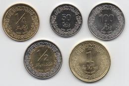 Libye : Série De 5 Pièces UNC (50  100 Dirhams, 1/4  1/2  1 Dinar) - Libye
