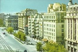 """Bucuresti, Bucarest (Romania) Pe B-dul """"Nicolae Balcescu"""" Piazza N. Balcescu, Stamp """"Giochi Della Gioventù"""" - Romania"""