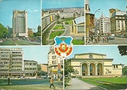 Bucuresti, Bucarest (Romania) Vues: Hotel Intercontinental, Place Palais De R.S.de Roumanie, Hotel Union, Opera Romaine - Romania